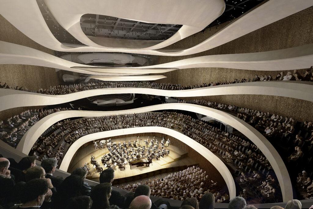 Sinfonia Varsovia, sala koncertowa - Atelier Thomas Pucher